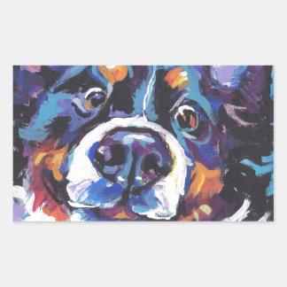 Peinture d'art de bruit de chien de montagne de sticker rectangulaire