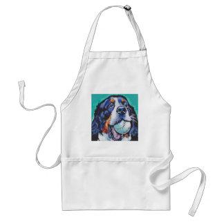 Peinture d'art de bruit de chien de montagne de tablier
