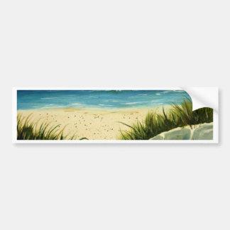 peinture d'art de plage de dunes de sable d'huile autocollant de voiture