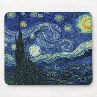 Peinture de beaux-arts de Vincent van Gogh de nuit Tapis De Souris