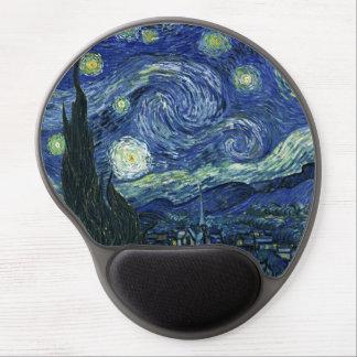 Peinture de beaux-arts de Vincent van Gogh de nuit Tapis De Souris En Gel