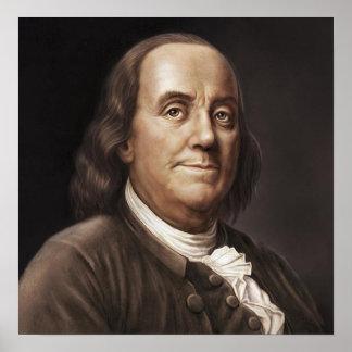 Peinture de Ben Franklin Poster