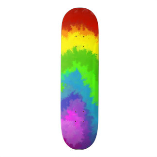Peinture de bulle d'arc-en-ciel skateboard  20 cm