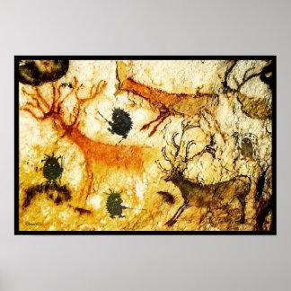 Peinture de caverne de hérissons posters