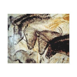 Peinture de caverne des chevaux sur la toile toiles