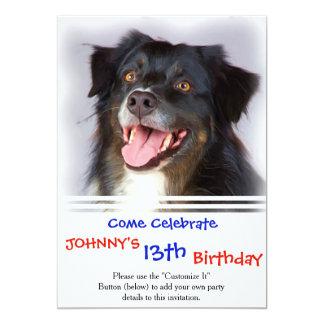 Peinture de chien - art de chien - choyez l'art carton d'invitation  12,7 cm x 17,78 cm