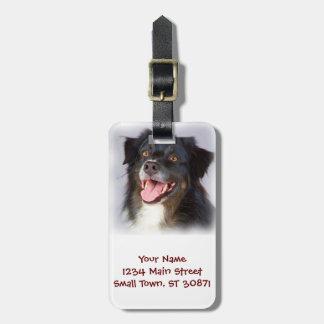 Peinture de chien - art de chien - choyez l'art étiquette à bagage