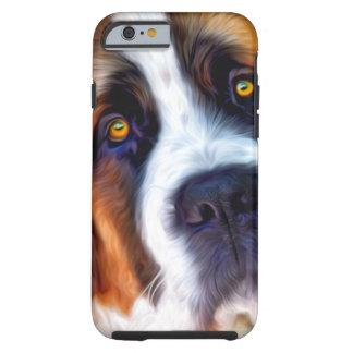 Peinture de chien de St Bernard Coque iPhone 6 Tough