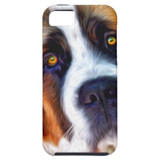 Peinture de chien de St Bernard Coques iPhone 5