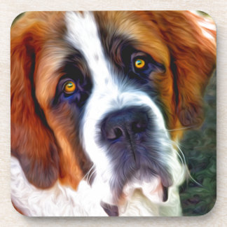Peinture de chien de St Bernard Dessous-de-verre