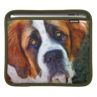 Peinture de chien de St Bernard Poches iPad
