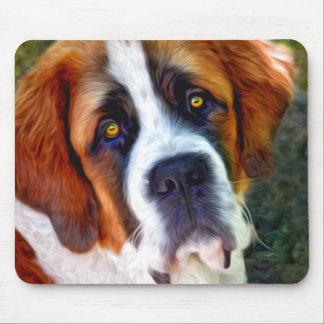 Peinture de chien de St Bernard Tapis De Souris