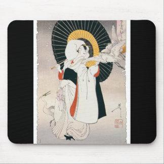 Peinture de façon saisissante belle de femme japon tapis de souris