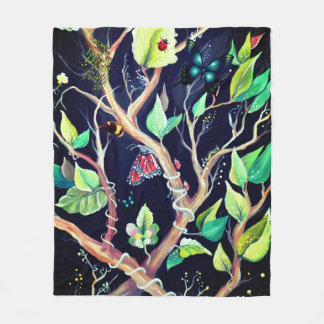Peinture de feuille et de papillons