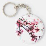 Peinture de fleurs de cerisier porte-clés