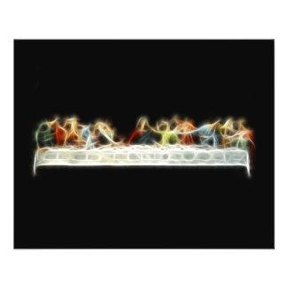 Peinture de fractale de da Vinci Jésus de dernier  Prospectus 11,4 Cm X 14,2 Cm