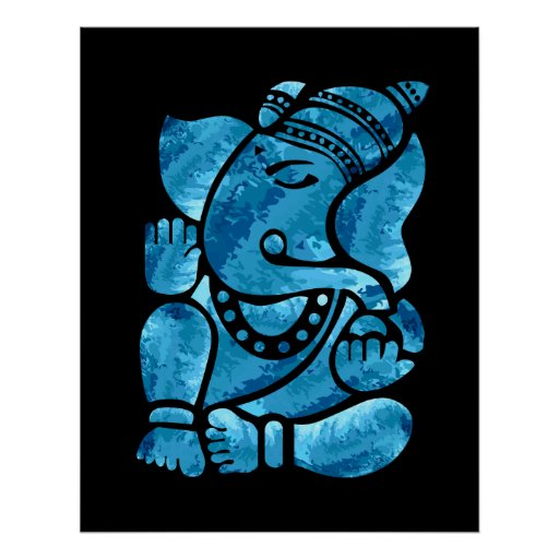 Peinture de Ganesha Affiche