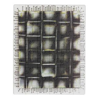 Peinture de jet et vis, puzzle acrylique