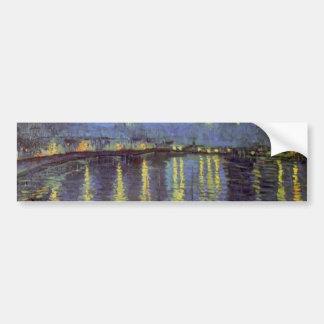 Peinture de la nuit étoilée de Van Gogh Autocollant De Voiture