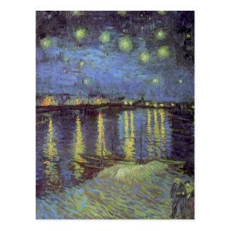 Peinture de la nuit étoilée de Van Gogh Carte Postale