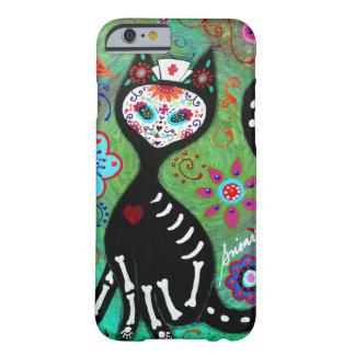 PEINTURE DE L'EL GATO CAT DIA DE LOS MUERTOS NURSE COQUE iPhone 6 BARELY THERE