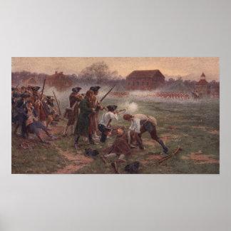 Peinture de ligne bataille dans le révolutionnaire poster