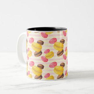 Peinture de macarons tasse 2 couleurs