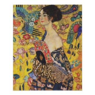 Peinture de Madame With Fan Art Nouveau de Gustav Posters