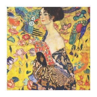 Peinture de Madame With Fan Art Nouveau de Gustav Toiles