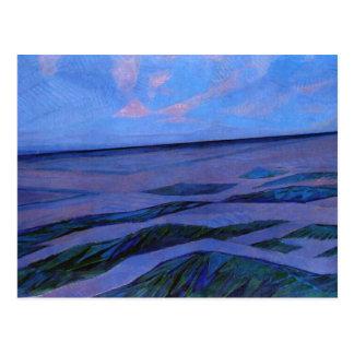 Peinture de Mondrian, paysage dunaire Carte Postale