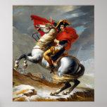 Peinture de Napoleon Bonaparte par Jacques-Louis D Affiche