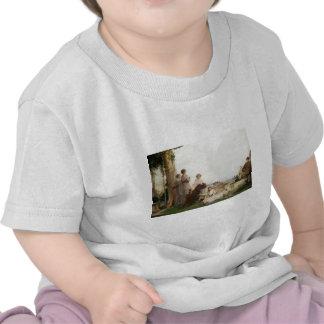 Peinture de nature d'enfants de famille t-shirts