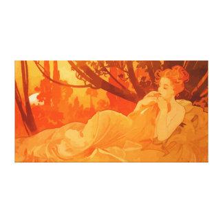 Peinture de Nouveau d'art inspirée par Mucha Toiles