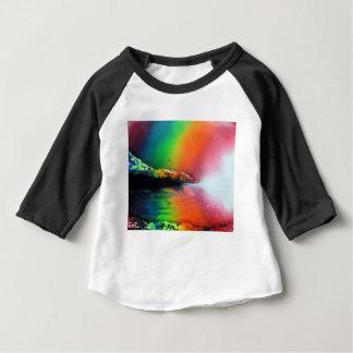 Peinture de paysage d'arc-en-ciel d'art de t-shirt pour bébé