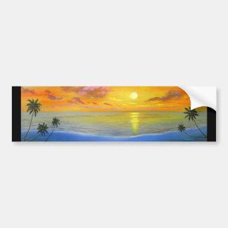 Peinture de paysage de paysage marin de vue de cou autocollant de voiture