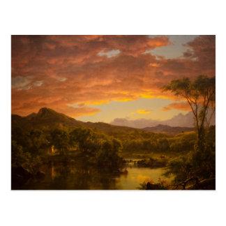 Peinture de paysage d'église de Friedrich Cartes Postales