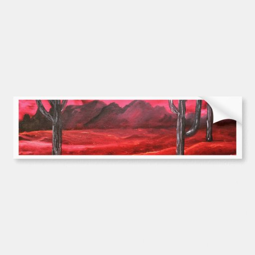 peinture de paysage du sud ouest d 39 huile autocollant pour voiture zazzle. Black Bedroom Furniture Sets. Home Design Ideas