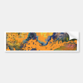 Peinture de paysage occidentale de trembles de autocollant de voiture