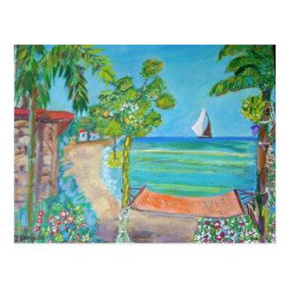 Peinture de plage du Salvador - carte postale