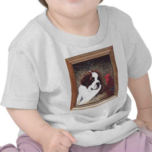 Peinture de race de chien de St Bernard T-shirts