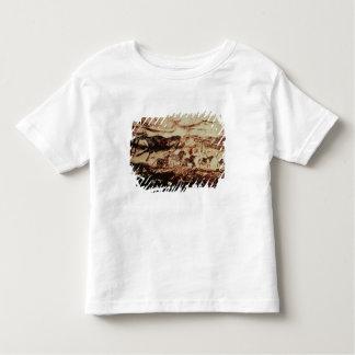 Peinture de roche d'une vache à saut t-shirt pour les tous petits