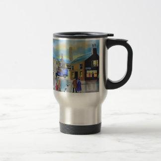 Peinture de scène vintage de Tetley tea van street Mug De Voyage