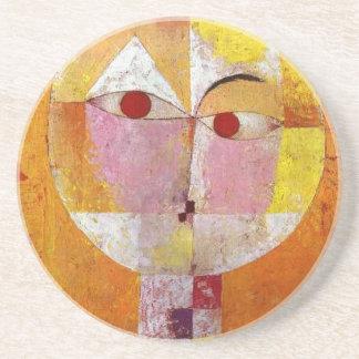 Peinture de Senecio de Paul Klee Dessous De Verre En Grès