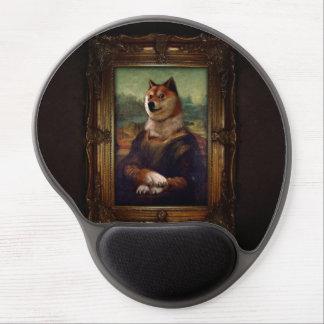 Peinture de Shibe Meme de beaux-arts de Mona Lisa Tapis De Souris En Gel
