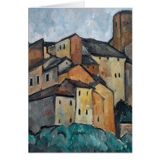 Peinture de Villiage d'Italien de blanc de maisons Cartes