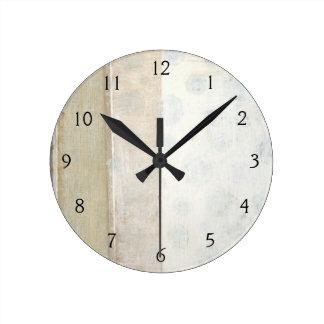 Peinture décorative de panneau dans des couleurs horloge ronde