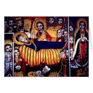 Peinture d'église d'Axum Carte De Vœux