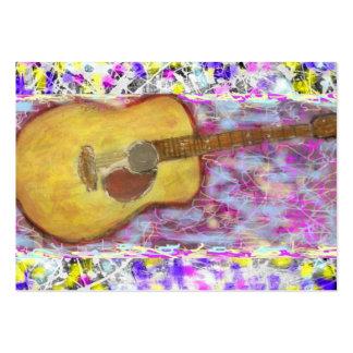 Peinture d'égouttement de guitare acoustique carte de visite grand format