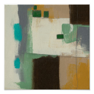 Peinture d'expressioniste avec les courses lourdes poster