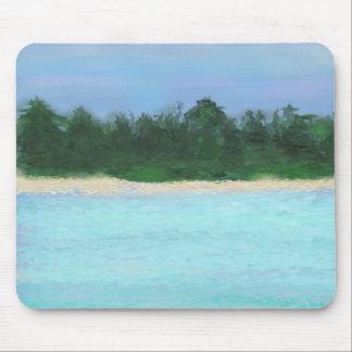 Peinture d'île tapis de souris